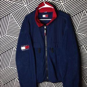 Vintage 90s Tommy Hilfiger Fleece utility jacket
